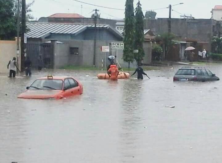 haut quartier sous les eaux